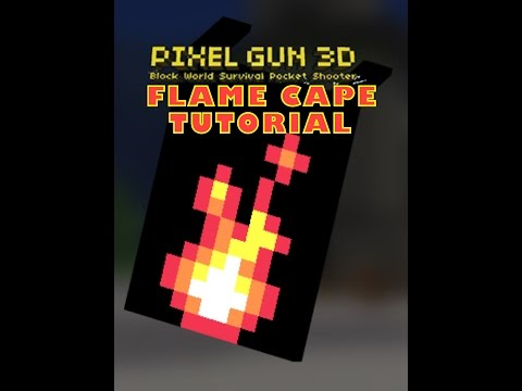 Pixel Gun 3D (CAPE TUTORIAL) Cape 2 - Flame cape