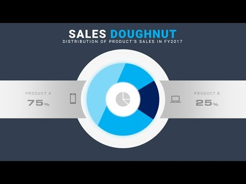 How To Design Most Beautiful Doughnut Chart in Microsoft Office PowerPoint PPT