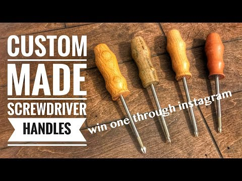How to Make Custom Screwdriver Handles | WIN ONE through my Instagram | Woodworking | Diy Project