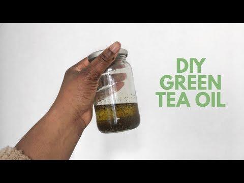 DIY GREEN TEA OIL - FOR HAIR GROWTH/MOISTURISED AND SOFT HAIR