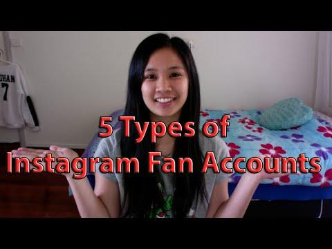 5 Types of Instagram Fan Accounts