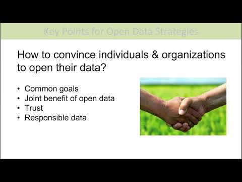 Webinar: Strategies for supporting collaborations, relationships for opening data in agriculture