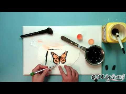 Monarch Butterfly Cake Stencil