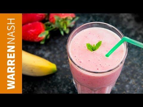 Strawberry Banana Smoothie Recipe - ZERO effort, Blitzed up in MINUTES - Warren Nash