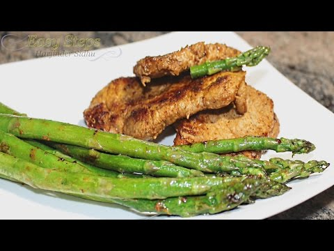 Pan Fry Pork Chops with Asparagus | How to Cook Pork Chops Pan Fried