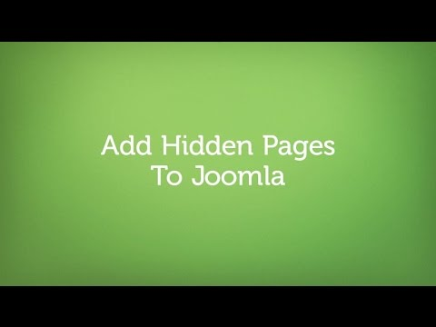 Add a hidden page to Joomla in 3 easy steps