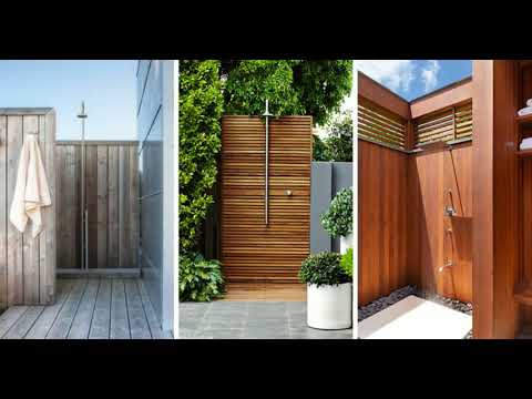 🔝 TOP 10+ BEST Outdoor Shower Design Ideas | DIY Cheap Building Shower Kits Plans Enclosure 2018