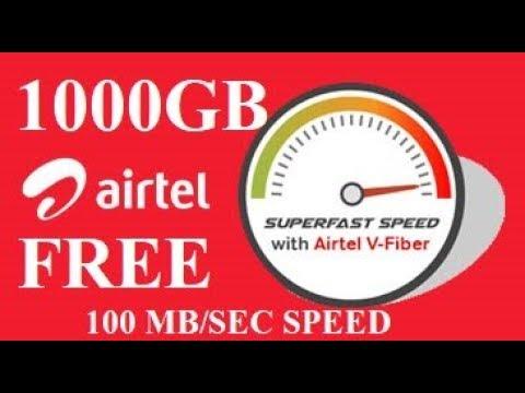 Airtel V-Fiber | FREE 1000 GB data | Broadband Plans | Get Fibernet Wi-Fi Connection Now!