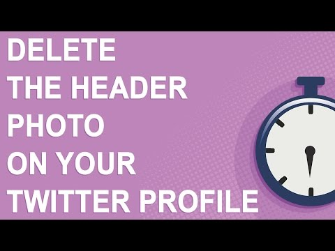 Delete the header photo on your Twitter profile