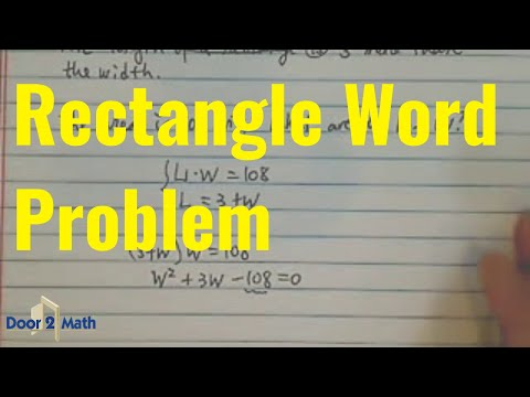 *factoring problems!!? the length of a rectangle is 3 more than the width. the area