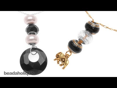 How to Make a Quick and Easy Stacked European Style Large Hole Bead Necklace