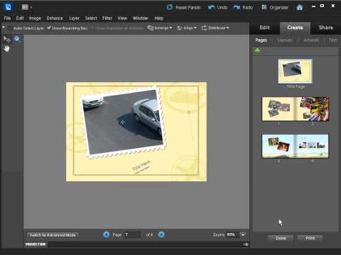 How to make a photo book using Photoshop Elements