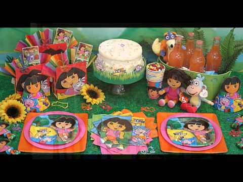 dora birthday party decorations at home ideas