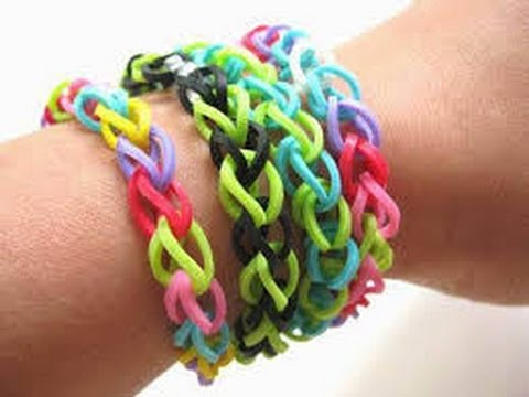 how to make a starburst bracelet rainbow loom with your fingers step by step