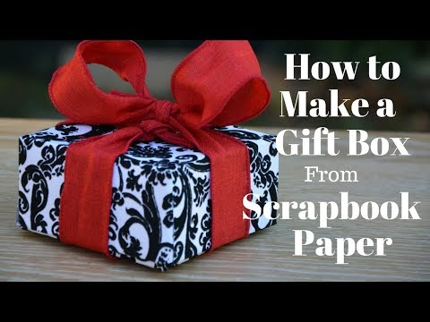 How To Make a Gift Box From Scrapbook Paper: DIY Crafts -- Thrift Diving