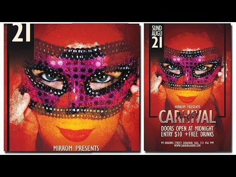 Photoshop Flyer Design Tutorial - Carnival Night