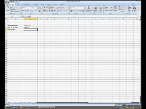 How To Do Basic Subtraction In Microsoft Excel 2007
