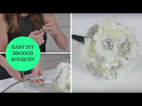 Easy DIY Brooch Bouquet a How-To Wedding Project