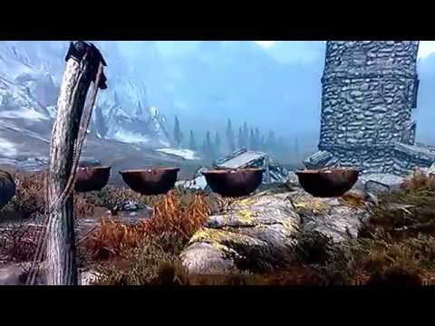 Skyrim - floating salt piles glitch