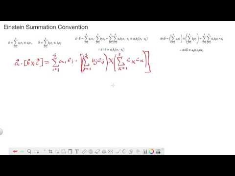What is Einstein Summation Convention for Index/Tensor Notations?