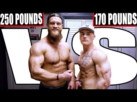 250 Pound Bodybuilder Vs. 170 Pound Physique