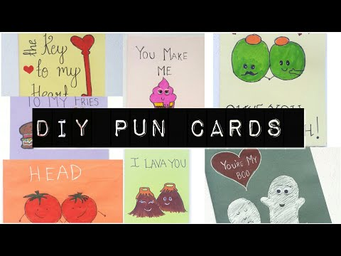 DIY PROJECTS : 10 PUN GREETING CARDS FOR YOUR BOYFRIEND-Pinterest Inspired.