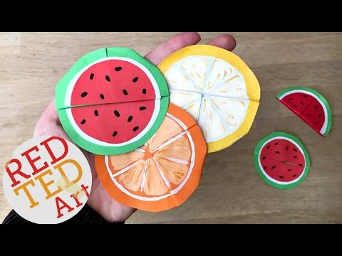 Easy Melon Bookmarks (Summer Origami & Paper Crafts)