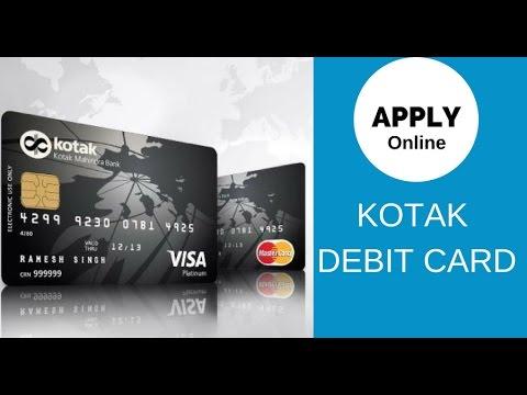 Apply Online KOTAK Mahindra Debit Card