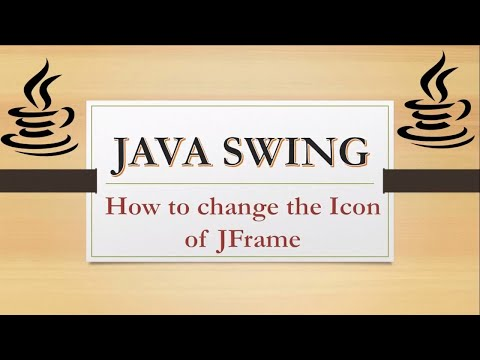 how to change jframe icon || how to set icon of jframe via code || #5