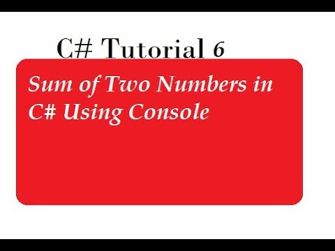 Sum of Two Numbers in C#