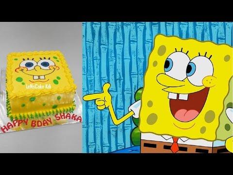 Spongebob Cake Tutorial Easy
