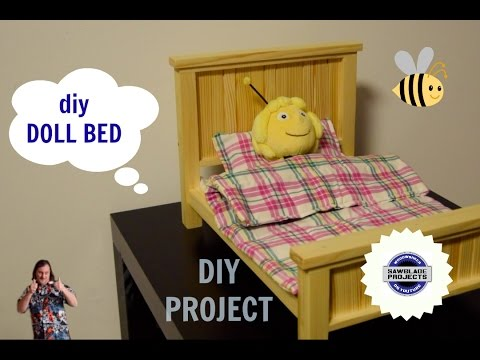 diy DOLL BED  - make your own DOLL BED