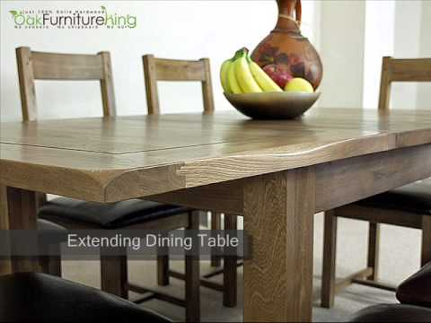 Country Rustic Solid Oak Extending Dining Table