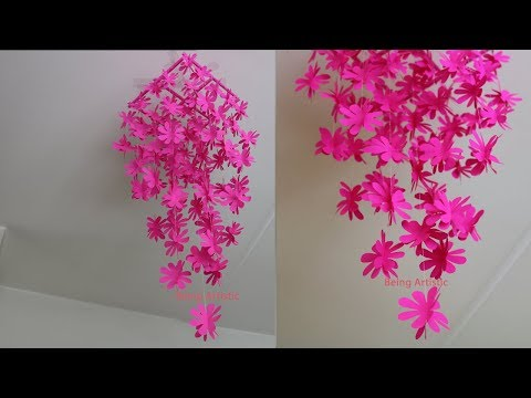 DIY - Simple Home Decor - Hanging Flowers - Paper Craft