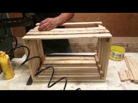 Pallet wood crates