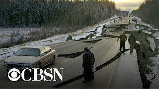 Download Lasting effects of Alaska's magnitude 7.0 earthquake Video