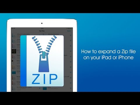 How to expand a Zip file on your iPad or iPhone using FileBrowser