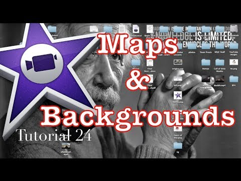 Maps and Backgrounds in iMovie 10.0.1 | Tutorial 24