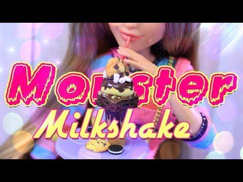 DIY - How to Make: MONSTER MILKSHAKE - Doll Food Crafts