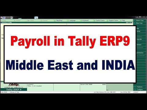 How to Create Payroll in Tally ERP9  - Middle East and INDIA