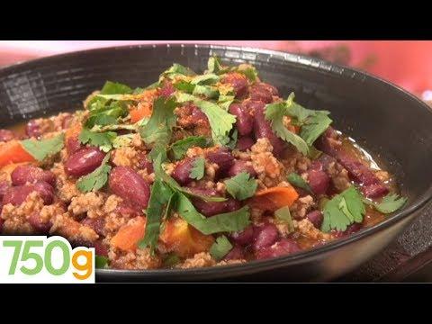 Recette du Chili Con Carne / Chili Con Carne recipe - English subtitles - 750 Grammes