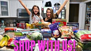 COME SHOPPING WITH US! GROCERY SHOPPING HAUL WHAT DO I EAT IN A WEEK! | EMMA AND ELLIE