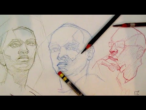 How to Draw Portraits & The Head | How to block-in a portrait or the head