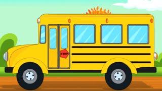 School Bus | Car Cartoon Videos for Children | Kids Car Rhymes - Kids Tv Channel