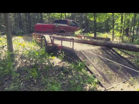 How we Load and Haul Logs for the Cabin Build