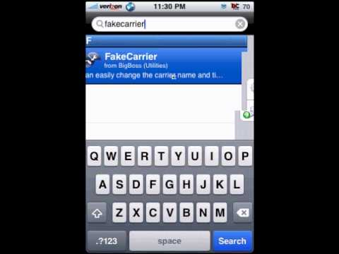 Changing your Carrier Name with Fake Carrier