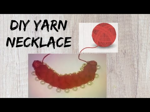 Easy DIY Yarn Choker Necklace