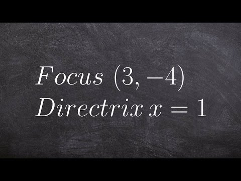 How to write the equation of a parabola given focus and directrix