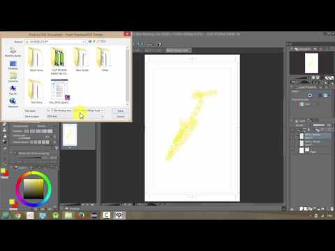 Manga Studio 5 / Clip Studio Paint: Printing and Creating a PDF File