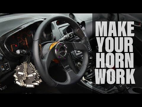 How to make your horn work with an aftermarket steering wheel.